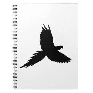 Parrot Silhouette Notebooks