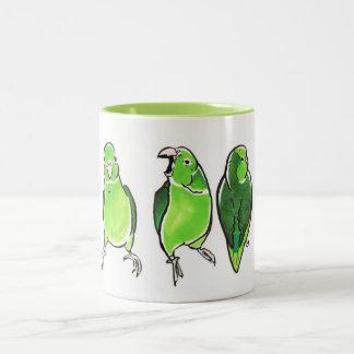 Parrot Trio Two-Tone Coffee Mug