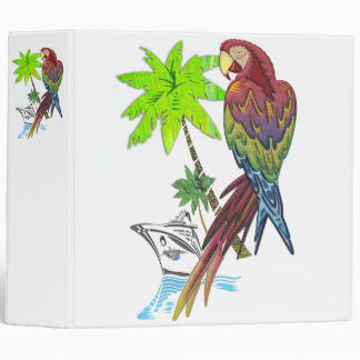 Parrot Tropical Cruise Vinyl Binders