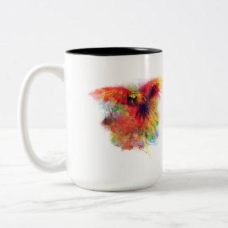 Parrot Two-Tone Coffee Mug