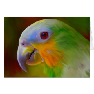 Parrot Water Color Art Painting Greeting Card