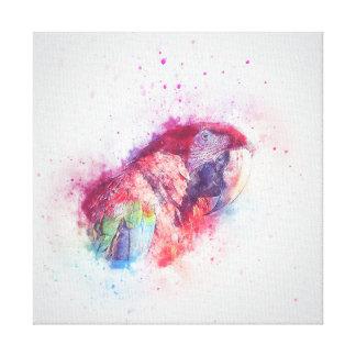 Parrot Watercolour Canvas Print
