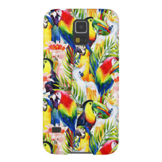 Parrots And Palm Leaves Case For Galaxy S5