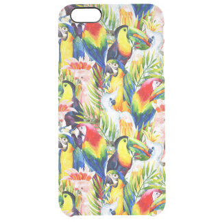 Parrots And Palm Leaves Clear iPhone 6 Plus Case