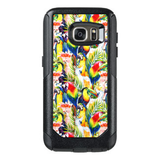 Parrots And Palm Leaves OtterBox Samsung Galaxy S7 Case