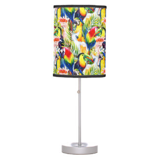 Parrots And Palm Leaves Table Lamps