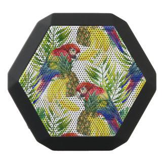 Parrots And Tropical Fruit Black Bluetooth Speaker