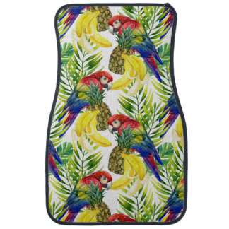 Parrots And Tropical Fruit Car Liners