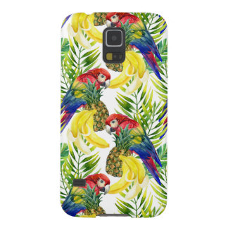 Parrots And Tropical Fruit Galaxy S5 Covers