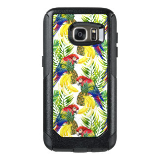 Parrots And Tropical Fruit OtterBox Samsung Galaxy S7 Case