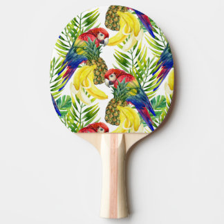 Parrots And Tropical Fruit Ping Pong Paddle