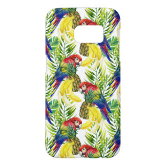 Parrots And Tropical Fruit Samsung Galaxy S7 Case