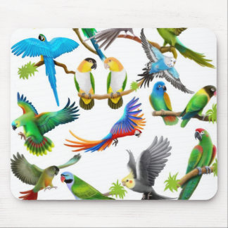 Parrots Galore Mousepad