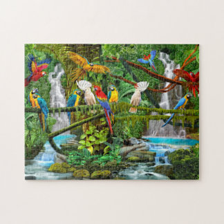 PARROTS IN PARADISE JIGSAW PUZZLE