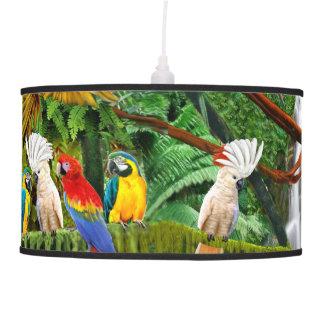 PARROTS IN PARADISE PENDANT LAMP