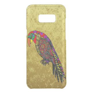 Parrots in yellow red green blue gold foil uncommon samsung galaxy s8 plus case