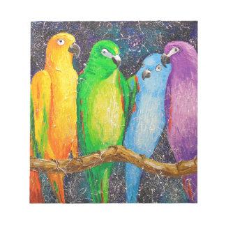 Parrots Notepad