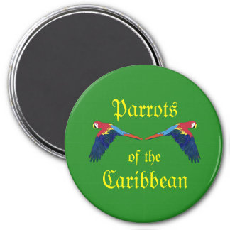 Parrots of the Caribbean Green Magnet