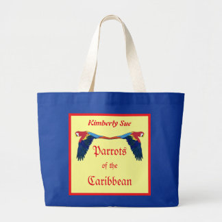 Parrots of the Caribbean Humorous Personalized Large Tote Bag