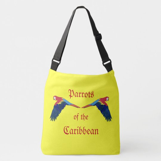 Parrots of the Caribbean Yellow Crossbody Bag