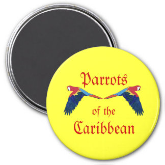 Parrots of the Caribbean Yellow Magnet