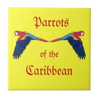 Parrots of the Caribbean Yellow Tile