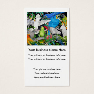 Parrots of the World Business Card