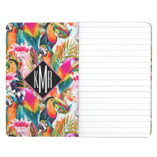 Parrots & Palm Leaves | Monogram Journals
