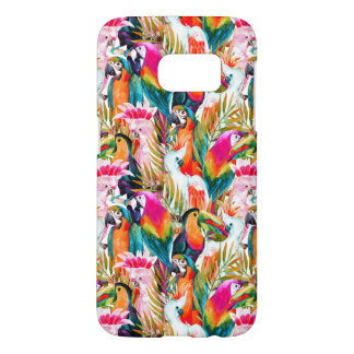 Parrots & Palm Leaves Samsung Galaxy S7 Case