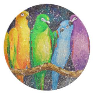 Parrots Plate
