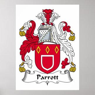 Parrott Family Crest Poster