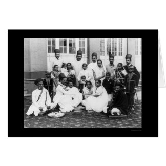 Parsee Wedding Party India 1898 Card