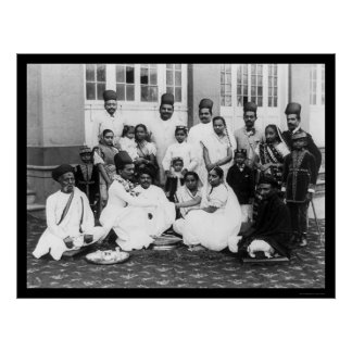 Parsee Wedding Party India 1898 Poster