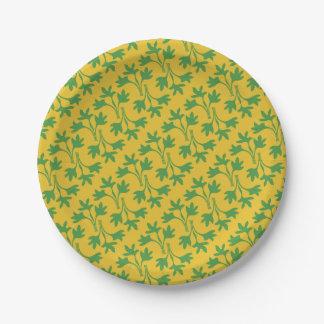 Parsnip Leaves Paper Plate