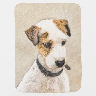 Parson Jack Russell Terrier Baby Blanket