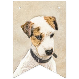 Parson Jack Russell Terrier Bunting Flags