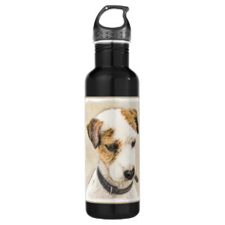 Parson Jack Russell Terrier Painting 2 Dog Art 710 Ml Water Bottle