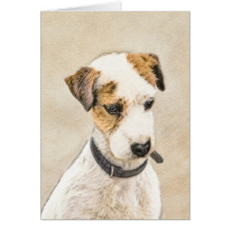 Parson Jack Russell Terrier Painting 2 Dog Art Card