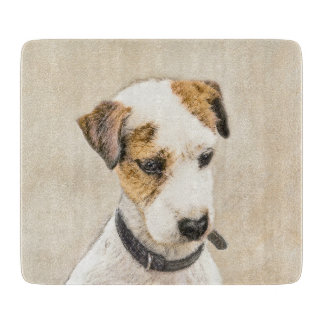 Parson Jack Russell Terrier Painting 2 Dog Art Cutting Board