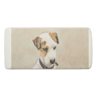 Parson Jack Russell Terrier Painting 2 Dog Art Eraser