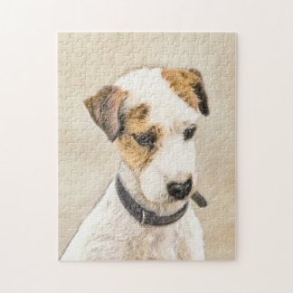 Parson Jack Russell Terrier Painting 2 Dog Art Jigsaw Puzzle