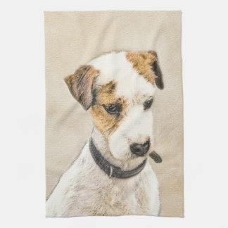 Parson Jack Russell Terrier Painting 2 Dog Art Kitchen Towel