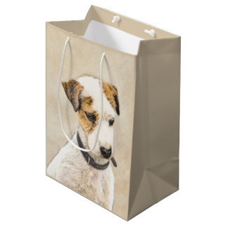 Parson Jack Russell Terrier Painting 2 Dog Art Medium Gift Bag