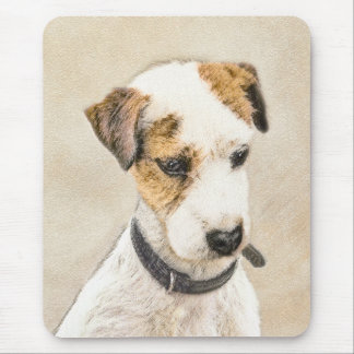 Parson Jack Russell Terrier Painting 2 Dog Art Mouse Pad