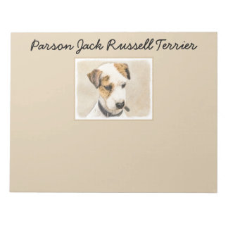 Parson Jack Russell Terrier Painting 2 Dog Art Notepad