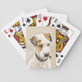 Parson Jack Russell Terrier Painting 2 Dog Art Playing Cards