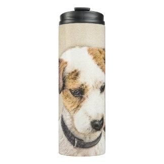 Parson Jack Russell Terrier Painting 2 Dog Art Thermal Tumbler