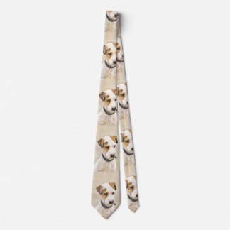 Parson Jack Russell Terrier Painting 2 Dog Art Tie