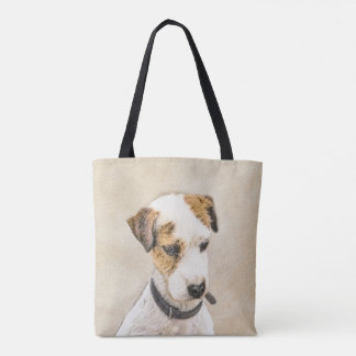 Parson Jack Russell Terrier Painting 2 Dog Art Tote Bag