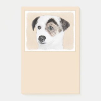 Parson Jack Russell Terrier Painting - Dog Art Post-it Notes